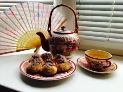 Рецепт Печенье песочное с тыквой и шоколадом с фото
