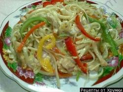 Лапша по-китайски приготовление рецепт с фото