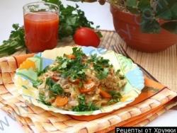 Рис с капустой и овощами Лаханоризо
