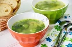 Кулинарный рецепт Зеленый овощной суп с фото
