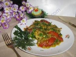 Кулинарный рецепт Вегетарианский омлет без яиц с фото