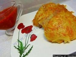 Кулинарный рецепт Овощи в кляре с фото