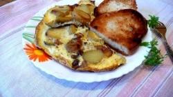 Кулинарный рецепт Омлет с картофелем от Поля Бокюза с фото