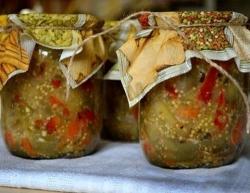 Как приготовить Баклажаны с болгарским перцем рецепт с фото