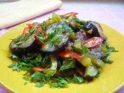 Кулинарный рецепт Закусочные баклажаны с фото