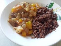 Рецепт Овощное рагу из баклажанов с грибами и овощами с фото