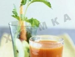 Кулинарный рецепт Кисель из моркови с фото