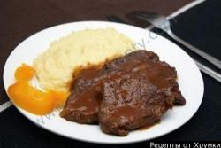 Кулинарный рецепт Мясо тушеное с пивом Гиннесс с фото