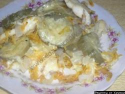 Кулинарный рецепт Запеченная рыба в духовке с фото