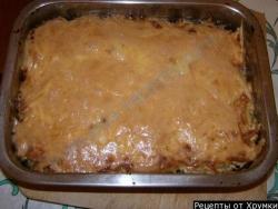 Рецепт Запеканка с яблоками и фаршем Мужские капризы с фото