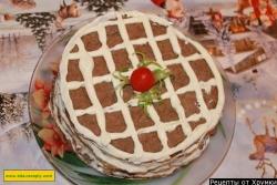 Торт из печени