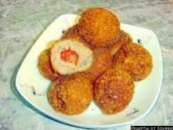 Кулинарный рецепт Мясные шарики с помидорами черри с фото