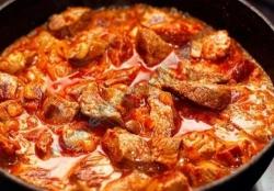Кулинарный рецепт Гуляш из мяса бобра с фото