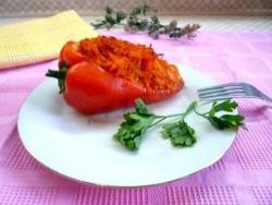 Рецепт Фаршированный перец запеченный в духовке с фото