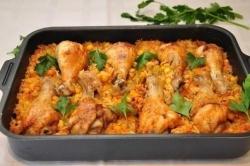 Кулинарный рецепт Ленивые куриные ножки с фото