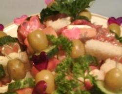 Канапе с оливками на шпажках рецепт