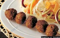 Рецепт Фрикадельки с фенхелем и салатом из радиккио с фото