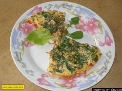 Омлет с помидорами и овощами рецепт с фото