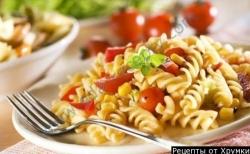 Кулинарный рецепт Паста с помидорами с фото