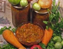 Кулинарный рецепт Лечо из зеленых помидор с фото