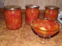 Лечо из перца и помидоров рецепт