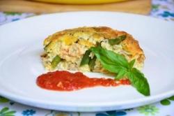 Рецепт Фриттата со стручковой фасолью помидорами черри и грибами с фото