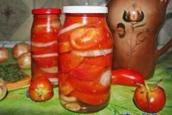 Кулинарный рецепт Помидоры в желе на зиму с фото