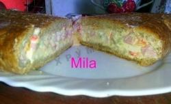 Кулинарный рецепт Фаршированный хлеб с фото