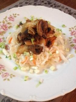 Рагу из фасоли с грибами