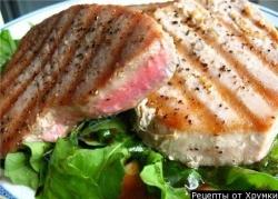 Кулинарный рецепт Тунец на гриле по-кубински с фото