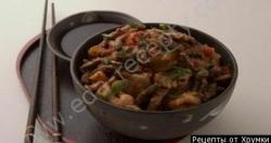 Кулинарный рецепт Свинина с крабами с фото