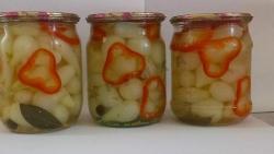 Рецепт Стерилизованный маринованный мелкий лук с фото