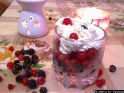 Ягодный десерт Пятиминутка