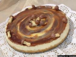 Белоснежный тарт с мраморной карамелью