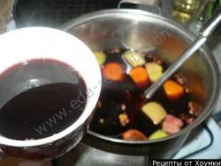 Кулинарный рецепт Глинтвейн с фото