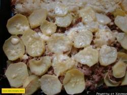 Картофельная запеканка с говяжьим фаршем