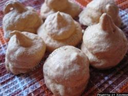 Кулинарный рецепт Пирожное безе с фото