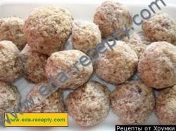 Рецепт Бобово-кокосовые фрикадельки в пальмовом сиропе по-тайски с фото