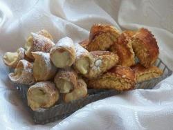 Кулинарный рецепт Гата и трубочки из слоеного теста с фото