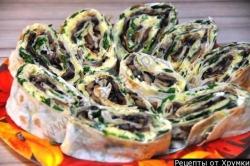 Лаваш с грибами рецепт приготовления с фото