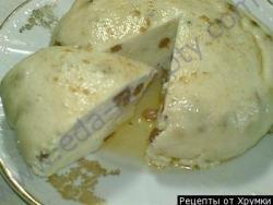 Кулинарный рецепт Пудинг из творога с фото