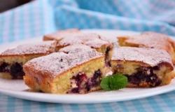 Черничный пирог рецепт с фото