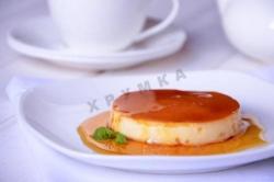 Кулинарный рецепт Крем-карамель со сливками с фото