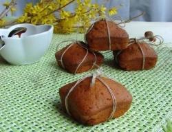 Карамельные кексы с пралине из фундука