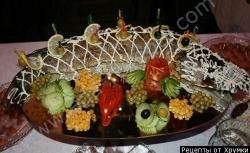 Кулинарный рецепт Фаршированный судак на гриле с фото