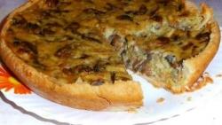 Как приготовить Постный пирог с грибами рецепт с фото