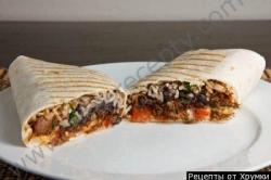 Кулинарный рецепт Буррито с фото