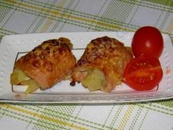 Свиные рулетики с начинкой из картофеля