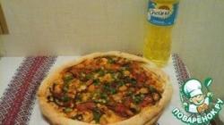 Постная пицца с фасолью