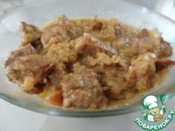 Свинина в сливочном соусе с карри